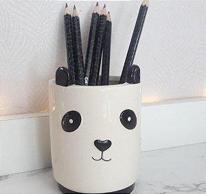 Porta lápis panda