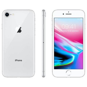iPhone 8 256gb Apple 4G Desbloqueado Prateado - Lacrado Garantia Apple de 1 Ano