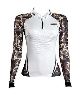 Camisa de Pesca Feminina Brk Military Girl com fpu 50+