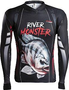 Camisa de Pesca Brk River Monster Tilápia com fpu 50+