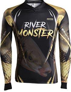 Camisa de Pesca Brk River Monster Piapara com fpu 50+
