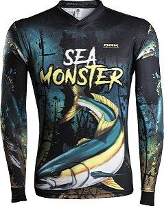 Camisa de Pesca Brk Sea Monster Olhete com fpu 50+