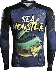 Camisa de Pesca Brk Sea Monster Dourado com fpu 50+