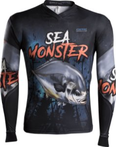 Camisa de Pesca Brk Sea Monster Pampo com fps 50+