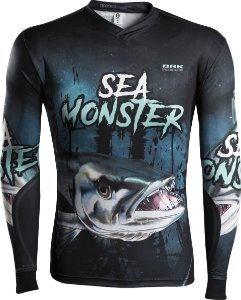 Camisa de Pesca Brk Sea Monster Barracuda com fpu 50+