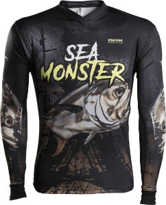 Camisa de Pesca Brk Sea Monster Xáreu com fpu 50+