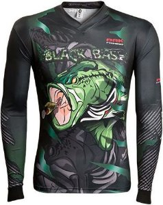 Camisa de Pesca Brk River Monster Black Bass 2.0 com fpu 50+