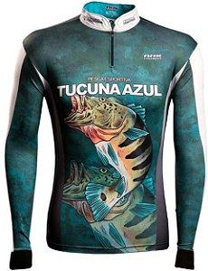 Camisa de Pesca Brk Tucuna Azul 2.0 com fpu 50+