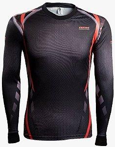 Camisa de Pesca Brk Combat Fish Camo Orange fpu 50+