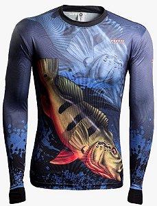 Camisa de Pesca Brk Combat Fish Tucunare Açu 1.0 fpu 50+