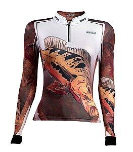 Camisa de Pesca Feminina Tucunaré Popoca 1.0 com fpu 50+