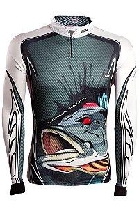 Camisa de Pesca Brk Cichla Branca com fps 50+