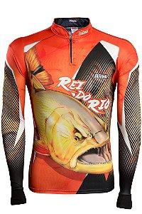 Camisa de Pesca Brk Dourado Rei do Rio 1.0 com fps 50+
