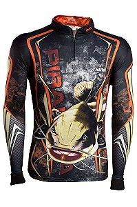 Camisa de Pesca Brk Pirarara Camo com fps 50+