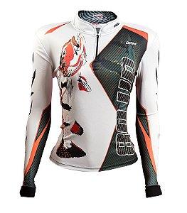 Camisa de Pesca Feminina Brk 80UP Preta com fps 50+