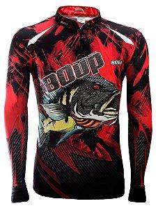 Camisa de Pesca Brk 80UP! Peacock Bass com fps 50+