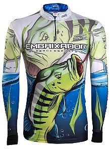 Camisa de Pesca Brk Embaixador da Pesca com fps 50+