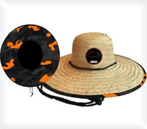 CHAPEU DE PALHA OUTSIDER BRK CAMO ORANGE