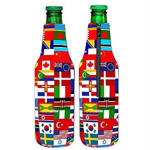 PORTA LONG NECK BRK WORLD FLAG 350ML NEOPRENE 3MM