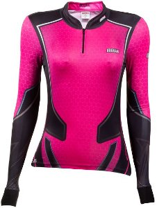 Camisa de Pesca BRK Feminina Fishing Life Rosa com fps +50