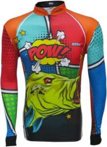 Camisa de Pesca BRK Tucunaré Pow Orange com fps +50