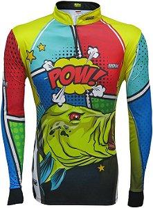 Camisa de Pesca BRK Tucunaré Pow Yellow com fps +50