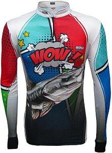 Camisa de Pesca BRK Pintado Pow White com fps +50