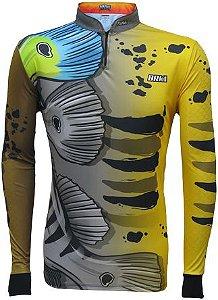 Camisa de Pesca Brk Tucunaré Azul Ocelo 2.0 com FPU 50+