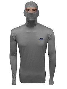 Camisa de Pesca com Capuz BRK Cinza Claro com fpu50+