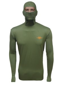 Camisa de Pesca com Capuz BRK Verde Musgo com fpu50+