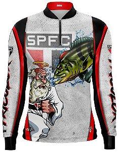 Camisa de Pesca Personalizada Tucunaré Futebol 04 com fps 50+