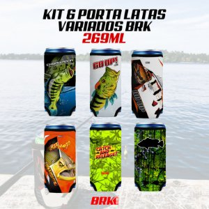 KIT 06 PORTA LATAS VARIADOS BRK 269 ml NEOPRENE 3MM