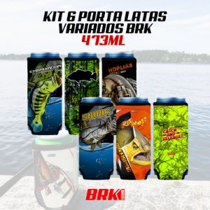 KIT 06 PORTA LATAS VARIADOS BRK 473 ml NEOPRENE 3MM