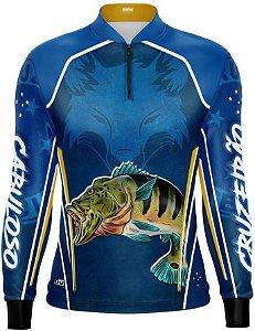 Camisa de Pesca Personalizada Tucunaré Futebol 11 com fps 50+
