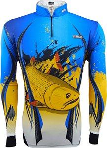 Camisa de Pesca Brk Dourado com fps 50+