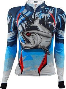Camisa de Pesca Feminina Brk Cachorra com fps 50+