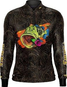 Camisa de Pesca BRK Tucunaré Camuflada 03 com FPU 50+