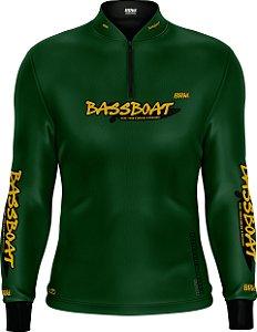 Camisa de Pesca Brk Bass Boat Green com fps 50+