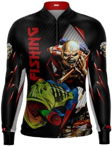 Camisa de Pesca Brk Tucunaré Eddie Iron Maiden Limited com FPU 50+