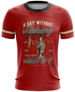 Camiseta Vermelha Casual 10 Brk Tecido Dry