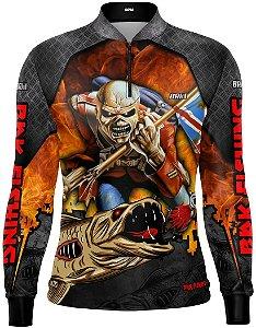 Camisa de Pesca Brk Traíra Eddie Iron Maiden Limited com FPU 50+