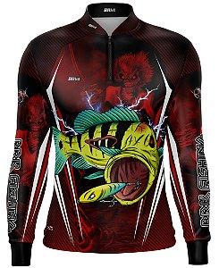 Camisa de Pesca Brk Tucunaré Eddie 2 Iron Maiden Limited com FPU 50+