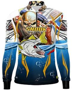Camisa de Pesca Brk Robalo Snook Eddie Com Fps 50+