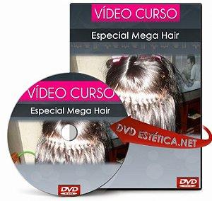 Vídeo aula de Especial Mega Hair (Técnica Queratina, Alongamento, Mechas...)