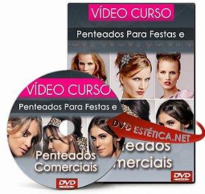 Vídeo aula de Penteados Para Festas e Penteados Comerciais (Duplo)