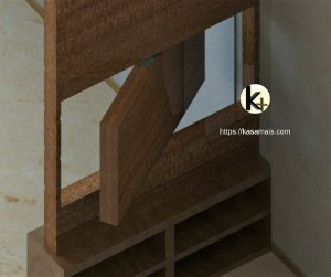 Kit para Painel Giratório - Cor Galvanizado