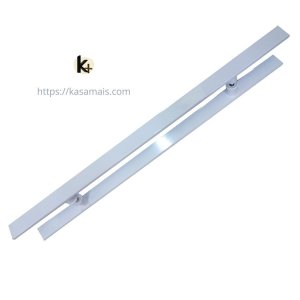 Puxador Plano - Branco - 80cm total x 50cm entre furos