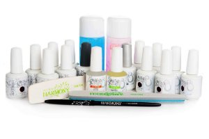 Kit Gelish com 12 cores e Cabine Led
