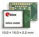 Módulo BLE 5.1 (Bluetooth Low Energy) e Mesh, Thread. Suporta Direction Finding, Alcance estimado 1400m, antena integrada - NINA-B406