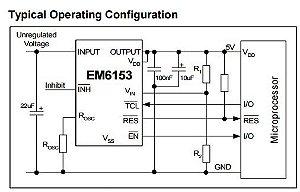 Regulador de tensão automotivo LDO 5V - EM6153